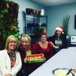 Plantscapers office staff enjoying our pot luck HOHOHO! Merry Christmashellip