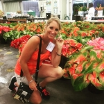 Julie posing with the most beautiful and exotic anthuriums Greenhellip