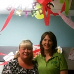 Denise gets a birthday hug and fabulous decorated office fromhellip