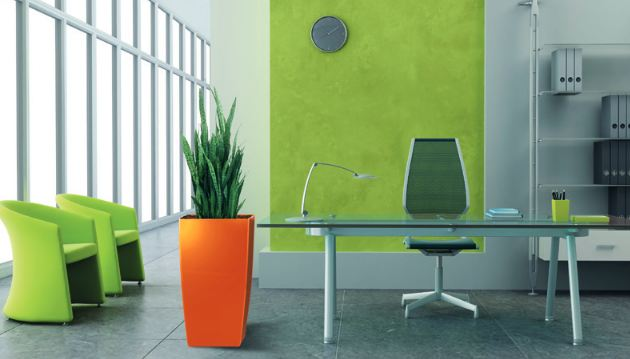 Colors and shapes of ecologically made containers are both beautiful and fun.